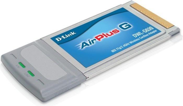 D-Link AirPlus G DWL-G630, Cardbus