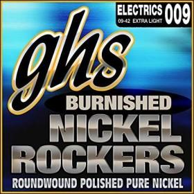 GHS Burnished nickel Rockers Extra Light (BNR-XL)