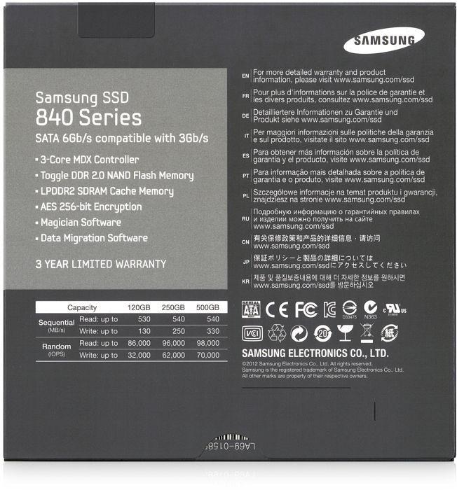 Samsung SSD 840 120GB, SATA (MZ-7TD120BW)