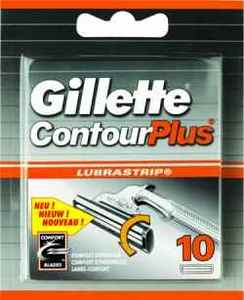 Gillette ContourPlus replacement blades 10-pack