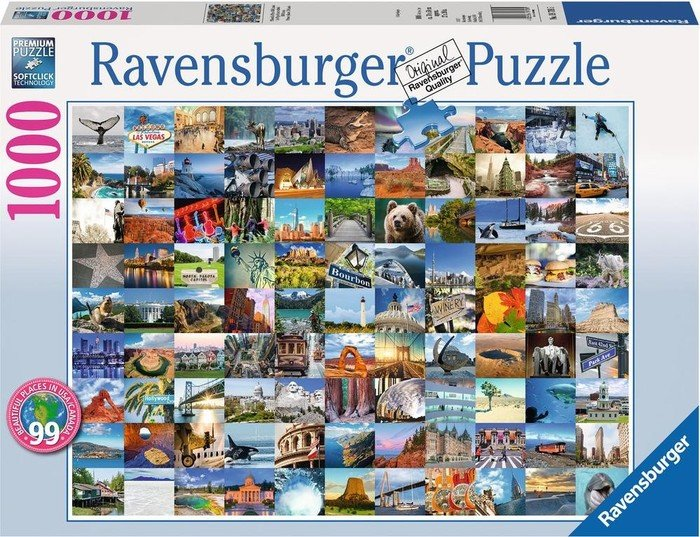 Ravensburger Puzzle 99 Beautiful Places Usa Canada 19709 Por Wnanie Cen Polska