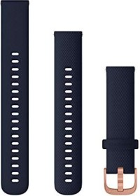 Garmin quick release replacement bracelet 18mm silicone navy blue/rose gold 110-195mm (010-12924-33)