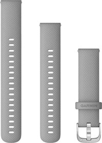 Garmin quick release replacement bracelet 18mm silicone powder grey/stainless 110-195mm (010-12932-00)