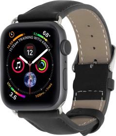 Stilgut Lederarmband für Apple Watch 38mm/40mm schwarz (B07MXCD8QD)
