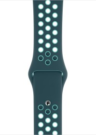 Apple Nike Sportarmband Regular für Apple Watch 44mm Midnight Turquoise/Aurora Green (MXR12ZM/A)