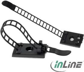 InLine Kabelbinder, Bündelklemme, 85mm, 10 Stück, schwarz (59969B)