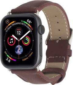 Stilgut Lederarmband für Apple Watch 38mm/40mm braun (B07MX97WZ6)