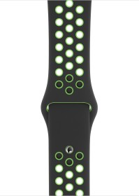 Apple Nike Sportarmband Regular für Apple Watch 44mm schwarz/Lime Blast (MXR02ZM/A)