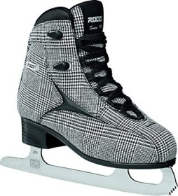 Roces Brits figure skating shoes black/white/silver check