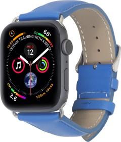 Stilgut Lederarmband für Apple Watch 38mm/40mm blau (B07MX8Q466)