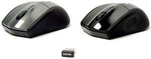 Nexus Silent Wireless Laser Mouse schwarz, USB (NX-SM-9000B)