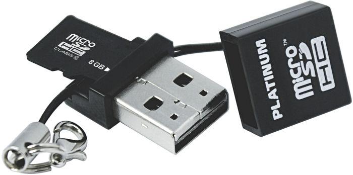 BestMedia Platinum R11 microSDHC 8GB USB-Kit, Class 6 (177316)