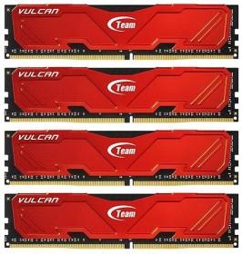 TeamGroup Vulcan rot DIMM Kit 32GB, DDR4-3000, CL16-16-16-36 (TLRED432G3000HC16AQC01)