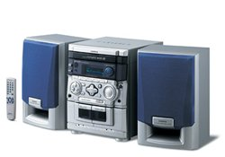 Aiwa NSX-SZ200 with 3-way CD, tuner, Double Tape