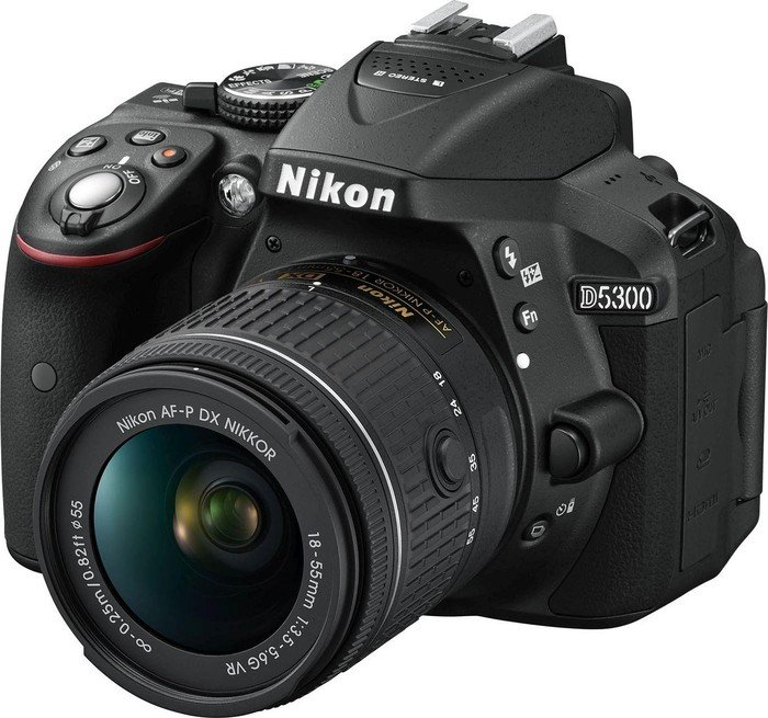 Nikon D5300 black with lens AF-P DX 18-55mm 3.5-5.6G VR (VBA370K007)