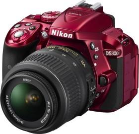 Nikon D5300 rot mit Objektiv AF-P DX 18-55mm 3.5-5.6G VR (VBA371K004)