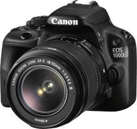 Canon EOS 100D schwarz mit Objektiv EF-S 18-55mm 3.5-5.6 (8576B029)