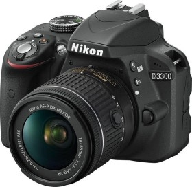 Nikon D3300 schwarz mit Objektiv AF-P VR DX 18-55mm 3.5-5.6G (VBA390K008)