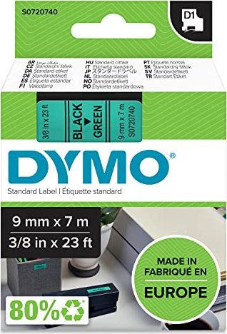 Dymo D1 9mm schwarz/grün (40919/S0720740) -- via Amazon Partnerprogramm