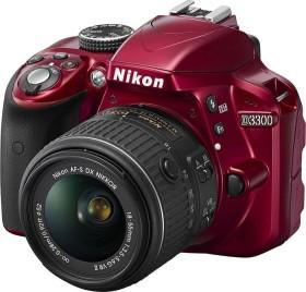 Nikon D3300 rot mit Objektiv AF-P VR DX 18-55mm 3.5-5.6G (VBA391K002)