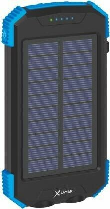 XLayer Powerbank Plus Solar Wireless 10000 schwarz/blau (217168)