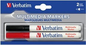 Verbatim CD/DVD Marker, 2-pack (44125)