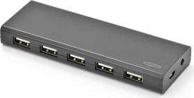 Ednet USB-Hub, 10x USB-A 2.0, USB 2.0 Micro-B [Buchse] (85139)