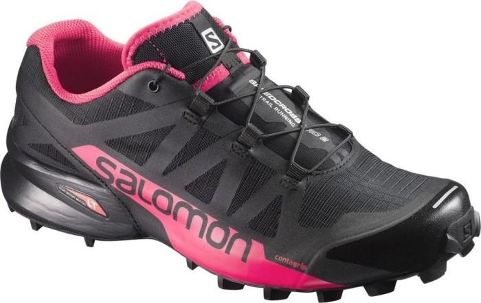 Salomon Damen Speedcross Pro 2 W Traillaufschuhe, Schwarz (Black/Virtual Pink/Black 000), 41 1/3 EU