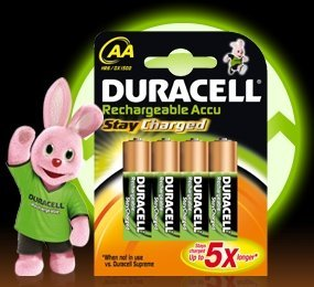 Duracell StayCharged Mignon AA rechargeable battery 2000mAh, 4-pack