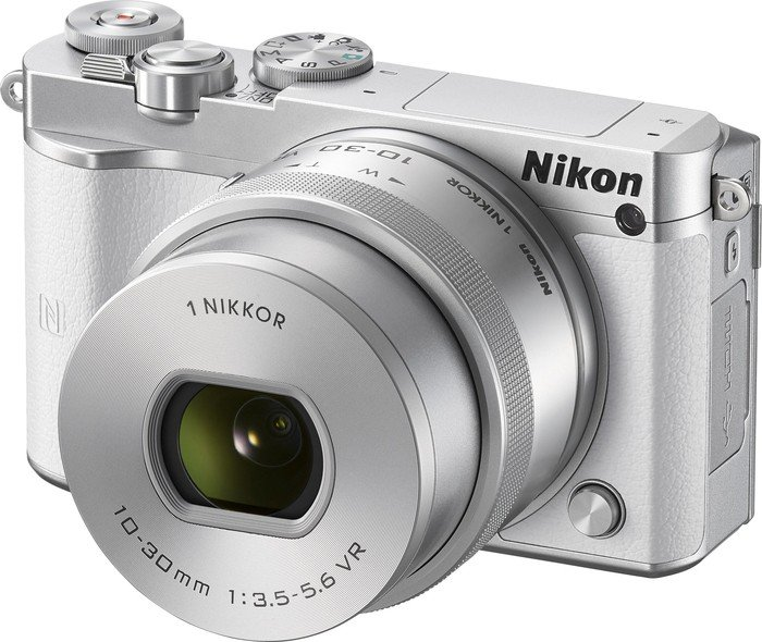 Nikon 1 J5 white with lens VR 10-30mm 3.5-5.6 PD-zoom (VVA242K001)