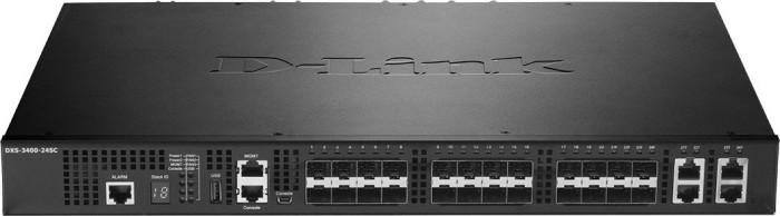 D-Link DXS-3400 Rackmount 10G Managed stack switch, 4x RJ-45/SFP+, 20x SFP+ (DXS-3400-24SC)