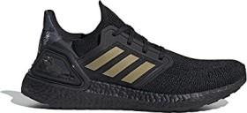 adidas Ultra Boost 20 core black/gold metallic/signal coral (Herren) (FW4322)