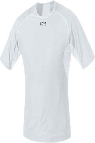 Gore Wear Windstopper Base Layer Shirt kurzarm light grey/white (Herren) (100024-9201)