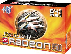 HIS Excalibur Radeon 9500, 64MB DDR, DVI, TV-out, AGP