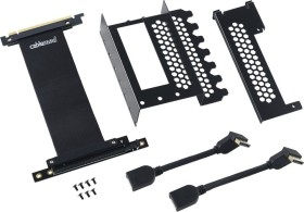 CableMod Vertical PCI-e Bracket Riser Card Cable für Gehäuse, 2x DisplayPort (CM-VPB-2DK-R)