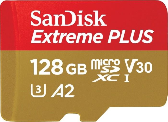 SanDisk Extreme Plus R170/W90 microSDXC 128GB Kit, UHS-I U3, A2, Class 10 (SDSQXBZ-128G-GN6MA)