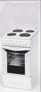 Indesit K3E11(W) electric cooker with electric hob