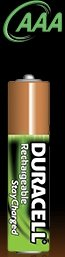 Duracell StayCharged Micro AAA rechargeable battery 800mAh, 2-pack
