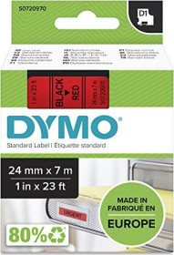 Dymo D1 labelling tape 24mm, black/red (53717 / S0720970)
