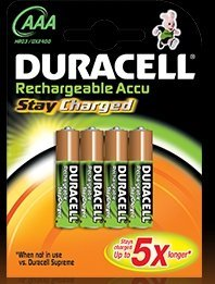 Duracell StayCharged Micro AAA rechargeable battery 800mAh, 4-pack
