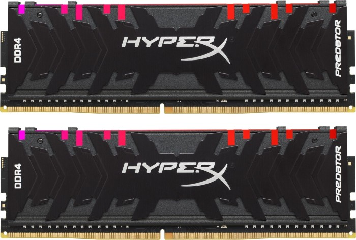 Kingston HyperX Predator RGB DIMM Kit 16GB, DDR4-3200, CL16-18-18 (HX432C16PB3AK2/16)