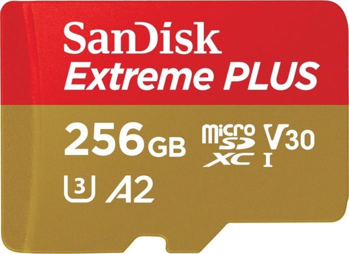 SanDisk Extreme Plus R170/W90 microSDXC 256GB Kit, UHS-I U3, A2, Class 10 (SDSQXBZ-256G-GN6MA)
