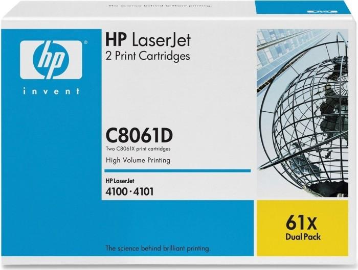 HP Toner 61X black, 2-pack (C8061D)