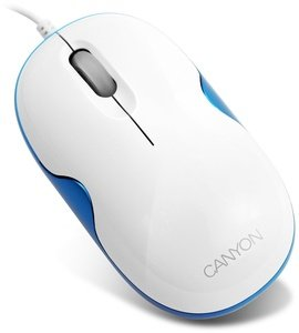 Canyon CNR-MSD03 Optical Mouse blau, PS/2 & USB (CNR-MSD03BL)