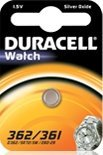 Duracell 362/361 (SR58) round cell, silver oxide, 1.5V