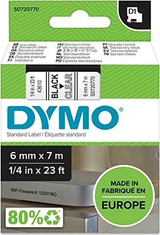 Dymo D1 6mm schwarz/transparent (43610/S0720770) -- via Amazon Partnerprogramm