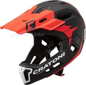 Cratoni C-Maniac 2.0 MX Fullface-Helm black/red matt