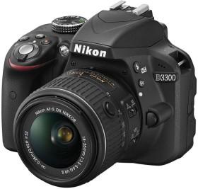 Nikon D3300 schwarz mit Objektiv AF-S VR DX 18-55mm 3.5-5.6G II (VBA390K001)