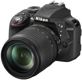 Nikon D3300 schwarz mit Objektiv AF-S VR DX 18-105mm 3.5-5.6G ED (VBA390K005)