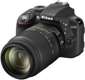 Nikon D3300 schwarz mit Objektiv AF-S VR DX 18-55mm II und AF-S VR DX 55-300mm